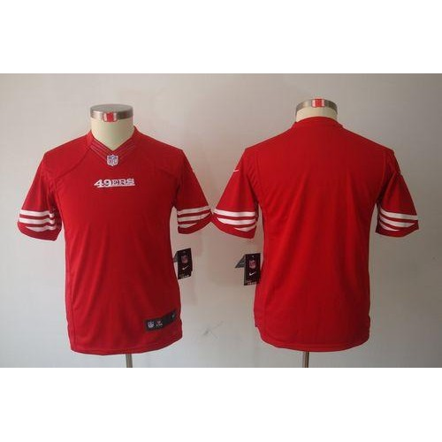 Top Nike 49ers Blank Red Team Color Youth Stitched NFL Limited Jersey  hot sale