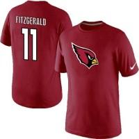 Nike Arizona Cardinals #11 Larry Fitzgerald Name & Number NFL T-Shirt Red