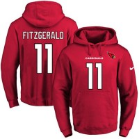 Nike Arizona Cardinals #11 Larry Fitzgerald Red Name & Number Pullover NFL Hoodie