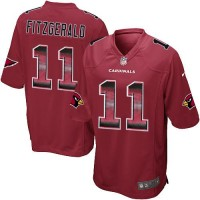 Nike Arizona Cardinals #11 Larry Fitzgerald Red Team Color Men's Stitched NFL Limited Strobe Jersey