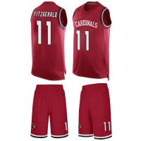 Nike Arizona Cardinals #11 Larry Fitzgerald Red Team Color Men's Stitched NFL Limited Tank Top Suit Jersey