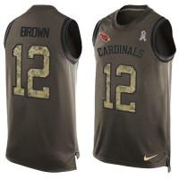 Nike Arizona Cardinals #12 John Brown Green Men's Stitched NFL Limited Salute To Service Tank Top Jersey