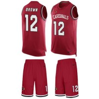 Nike Arizona Cardinals #12 John Brown Red Team Color Men's Stitched NFL Limited Tank Top Suit Jersey
