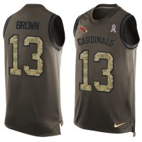 Nike Arizona Cardinals #13 Jaron Brown Green Men's Stitched NFL Limited Salute To Service Tank Top Jersey