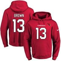 Nike Arizona Cardinals #13 Jaron Brown Red Name & Number Pullover NFL Hoodie