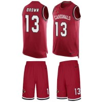 Nike Arizona Cardinals #13 Jaron Brown Red Team Color Men's Stitched NFL Limited Tank Top Suit Jersey