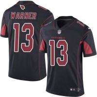Nike Arizona Cardinals #13 Kurt Warner Black Men's Stitched NFL Limited Rush Jersey