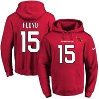 Nike Arizona Cardinals #15 Michael Floyd Red Name & Number Pullover NFL Hoodie