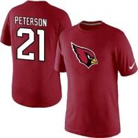 Nike Arizona Cardinals #21 Patrick Peterson Name & Number NFL T-Shirt Red
