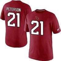 Nike Arizona Cardinals #21 Patrick Peterson Pride Name & Number NFL T-Shirt Red