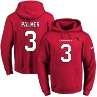 Nike Arizona Cardinals #3 Carson Palmer Red Name & Number Pullover NFL Hoodie