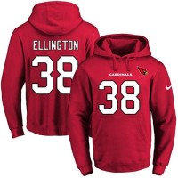 Nike Arizona Cardinals #38 Andre Ellington Red Name & Number Pullover NFL Hoodie