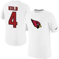 Nike Arizona Cardinals #4 Kevin Kolb Name & Number NFL T-Shirt White