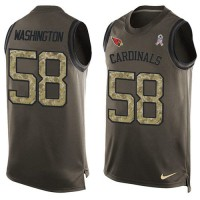 Nike Arizona Cardinals #58 Daryl Washington Green Men's Stitched NFL Limited Salute To Service Tank Top Jersey
