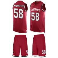 Nike Arizona Cardinals #58 Daryl Washington Red Team Color Men's Stitched NFL Limited Tank Top Suit Jersey