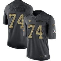 Nike Arizona Cardinals #74 D.J. Humphries Anthracite Men's Stitched NFL Limited 2016 Salute to Service Jersey