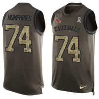 Nike Arizona Cardinals #74 D.J. Humphries Green Men's Stitched NFL Limited Salute To Service Tank Top Jersey