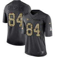 Nike Arizona Cardinals #84 Jermaine Gresham Anthracite Men's Stitched NFL Limited 2016 Salute to Service Jersey