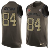 Nike Arizona Cardinals #84 Jermaine Gresham Green Men's Stitched NFL Limited Salute To Service Tank Top Jersey