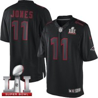 Nike Atlanta Falcons #11 Julio Jones Black Super Bowl LI 51 Men's Stitched NFL Impact Limited Jersey