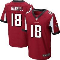 Nike Atlanta Falcons #18 Taylor Gabriel Red Team Color Men's Stitched NFL Elite Jersey