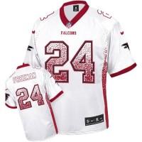 Nike Atlanta Falcons #24 Devonta Freeman White Men's Stitched NFL Elite Drift Fashion Jersey