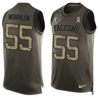 Nike Atlanta Falcons #55 Paul Worrilow Green Men's Stitched NFL Limited Salute To Service Tank Top Jersey