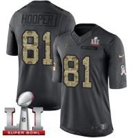 Nike Atlanta Falcons #81 Austin Hooper Black Super Bowl LI 51 Men's Stitched NFL Limited 2016 Salute To Service Jersey