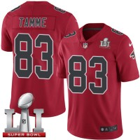 Nike Atlanta Falcons #83 Jacob Tamme Red Super Bowl LI 51 Men's Stitched NFL Limited Rush Jersey