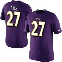 Nike Baltimore Ravens #27 Ray Rice Pride Name & Number NFL T-Shirt Purple