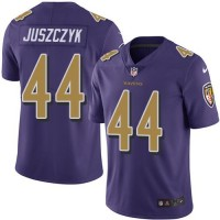 Nike Baltimore Ravens #44 Kyle Juszczyk Purple Men's Stitched NFL Limited Rush Jersey