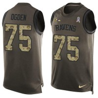 Nike Baltimore Ravens #75 Jonathan Ogden Green Men's Stitched NFL Limited Salute To Service Tank Top Jersey