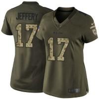 Nike Bears #17 Alshon Jeffery Green Women's Stitched NFL Limited Salute to Service Jersey