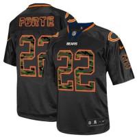 Nike Bears #22 Matt Forte Black Men's Stitched NFL Elite Camo Fashion Jersey