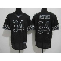 Nike Bears #34 Walter Payton Black Shadow Men's Stitched NFL Elite Jersey