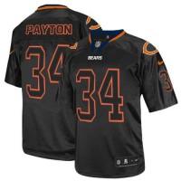 Nike Bears #34 Walter Payton Lights Out Black Men's Stitched NFL Elite Jersey