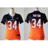 Nike Bears #34 Walter Payton Navy BlueOrange Women's Stitched NFL Elite Fadeaway Fashion Jersey