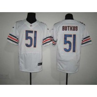 Nike Bears #51 Dick Butkus White Men's Stitched NFL Elite Jersey