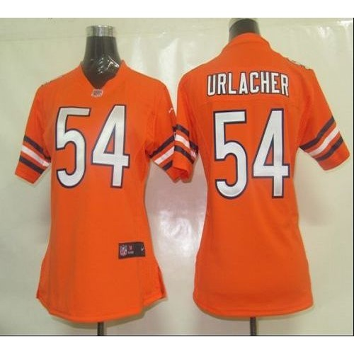 f025e8529 Nike Bears  54 Brian Urlacher Orange Alternate Women s Stitched NFL Elite  Jersey