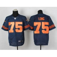 Nike Bears #75 Kyle Long Navy Blue 1940s Throwback Men's Stitched NFL Elite Jersey
