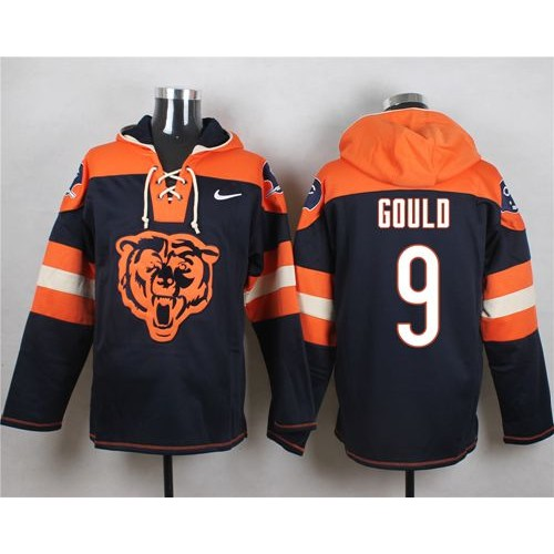 Nike Bears  9 Robbie Gould Navy Blue Player Pullover NFL Hoodie c9d8a096c