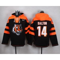 Nike Bengals #14 Andy Dalton Black Player Pullover NFL Hoodie