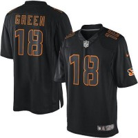 Nike Bengals #18 A.J. Green Black Men's Stitched NFL Impact Limited Jersey