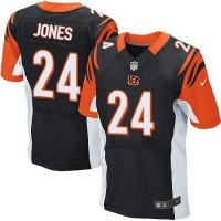 Nike Bengals #24 Adam Jones Black Team Color Men's Stitched NFL Elite Jersey