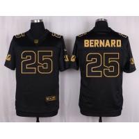 Nike Bengals #25 Giovani Bernard Black Men's Stitched NFL Elite Pro Line Gold Collection Jersey