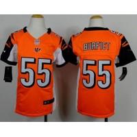 Nike Bengals #55 Vontaze Burfict Orange Alternate Youth Stitched NFL Elite Jersey