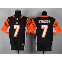 Nike Bengals #7 Boomer Esiason Black Team Color Men's Stitched NFL Elite Jersey