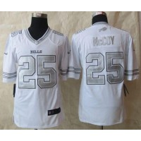 Nike Bills #25 LeSean McCoy White Men's Stitched NFL Limited Platinum Jersey