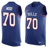 Nike Bills #70 Eric Wood Royal Blue Team Color Men's Stitched NFL Limited Tank Top Jersey