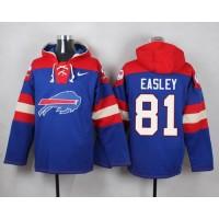 Nike Bills #81 Marcus Easley Royal Blue Player Pullover NFL Hoodie